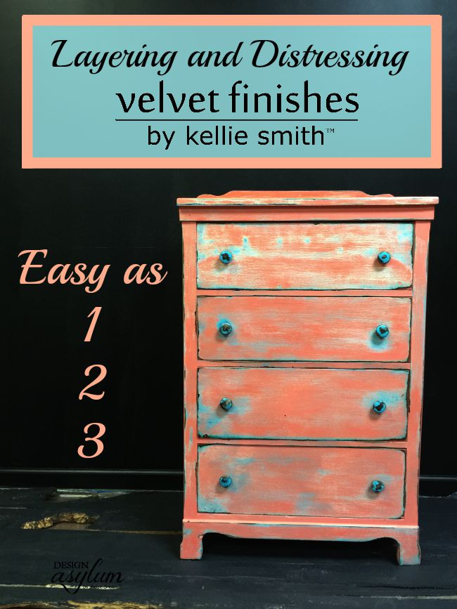 Think cool furniture painting techniques are hard? Not with Velvet Finishes. This must be the easiest paint in the world to use!