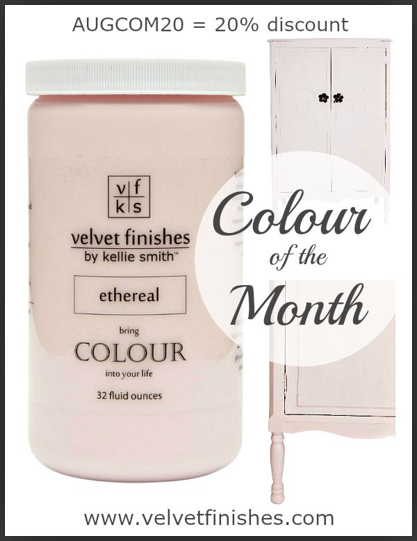 Paint it Pink with Velvet Finishes Ethereal | light, airy, tenuous, celestial. The perfect shade of pastel pink! August 2015 Colour of the Month