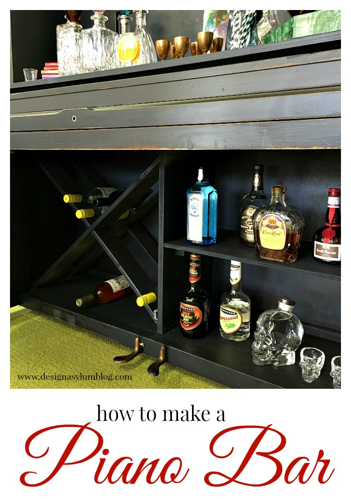 Check out this amazing transformation! A piano into a bar!