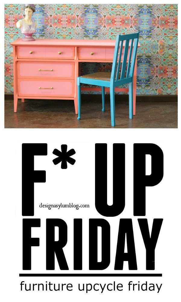 It's F* Up Friday and we have an adorable vanity makeover with Velvet Finishes and Frog Tape!