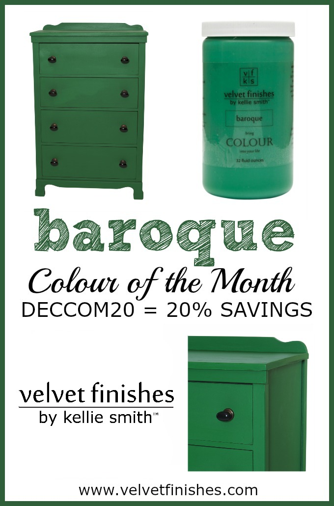 Paint it Baroque with Velvet Finishes December Colour of the Month
