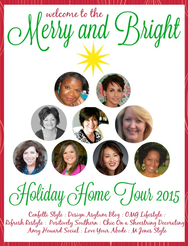 Come along with me and tour the Merry and Bright Christmas Home Tour! Nine bloggers, nine fabulous inspirations!