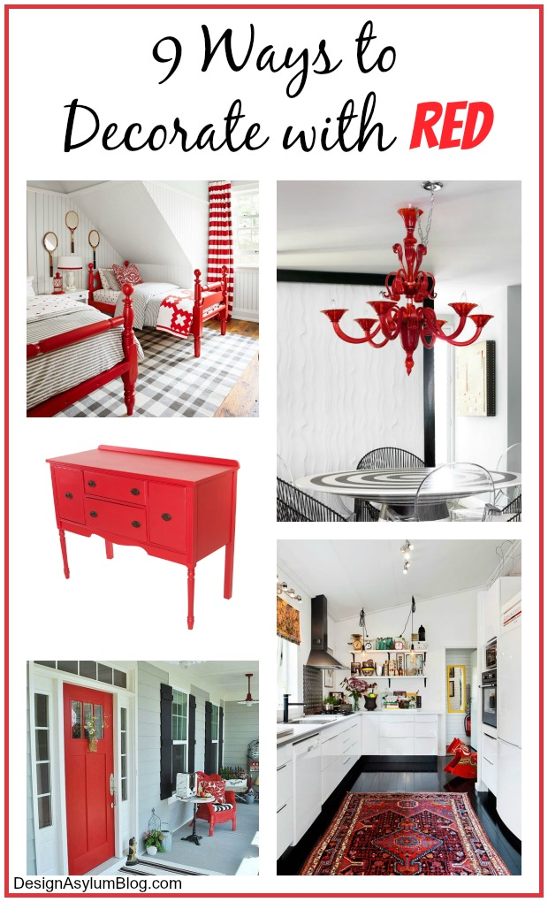 From the walls to the accessories here are 9 Ways to Decorate with Red! Remember to try Velvet Finishes Vivid for your red furniture needs!