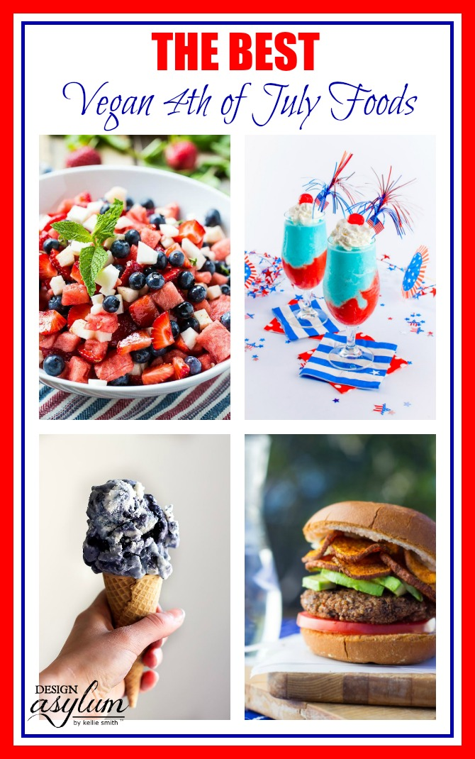 The Best VEGAN 4th of July foods + recipes! Get ready for the 4th of July with these amazing burgers, sides, and desserts! If you need fresh vegetables, then check out <a href=
