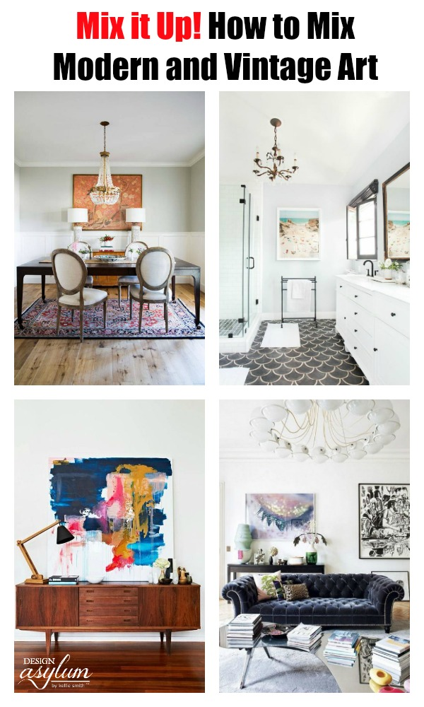 Decorating your space with modern and vintage art plus other accessories can create the perfect blended design. If you want to take your home renovations to a whole new level visit <a style=