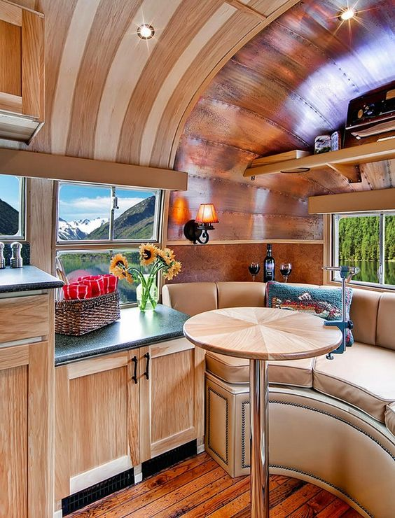 Take a look at these vintage airstream remodel ideas. This roundup is full of inspirational interior photos of vintage airstreams. Let the remodel begin!